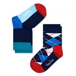 2-pack Happy Socks Kids Argyle sokken