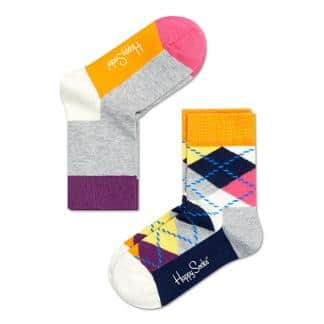 2-pack Happy Socks Kids Argyle sokken
