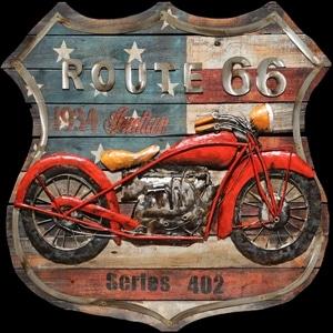 3D Metaal Schilderij - Route 66