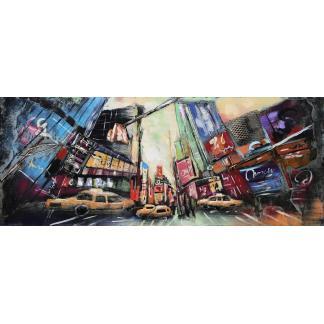 3D Metaal Schilderij - Times Square New York