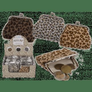 Plüsch-Geldbörse, Leopard-stijl