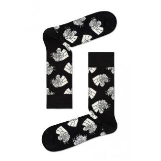 Happy Socks Mountain Lion Sokken, Zwart/Wit
