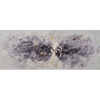 Abstract Paars - Canvas schilderij - Olieverf