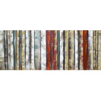 Abstract Strepen - Canvas schilderij - Olieverf