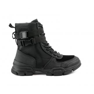 All Black SneakerBoots, Zwart