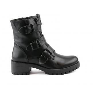All Black Triple Buckle Boots, Rugged