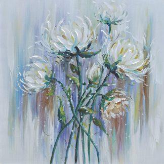 Bloemen - Canvas schilderij - Olieverf