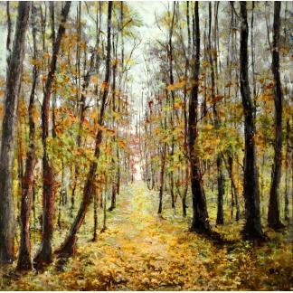 Oerbos - Canvas schilderij - Olieverf