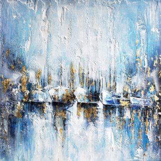 Boten Abstract - Canvas schilderij - Olieverf