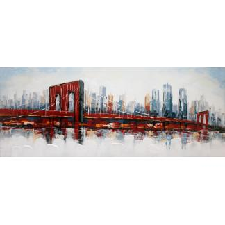 Brooklyn Bridge - Canvas schilderij - Olieverf