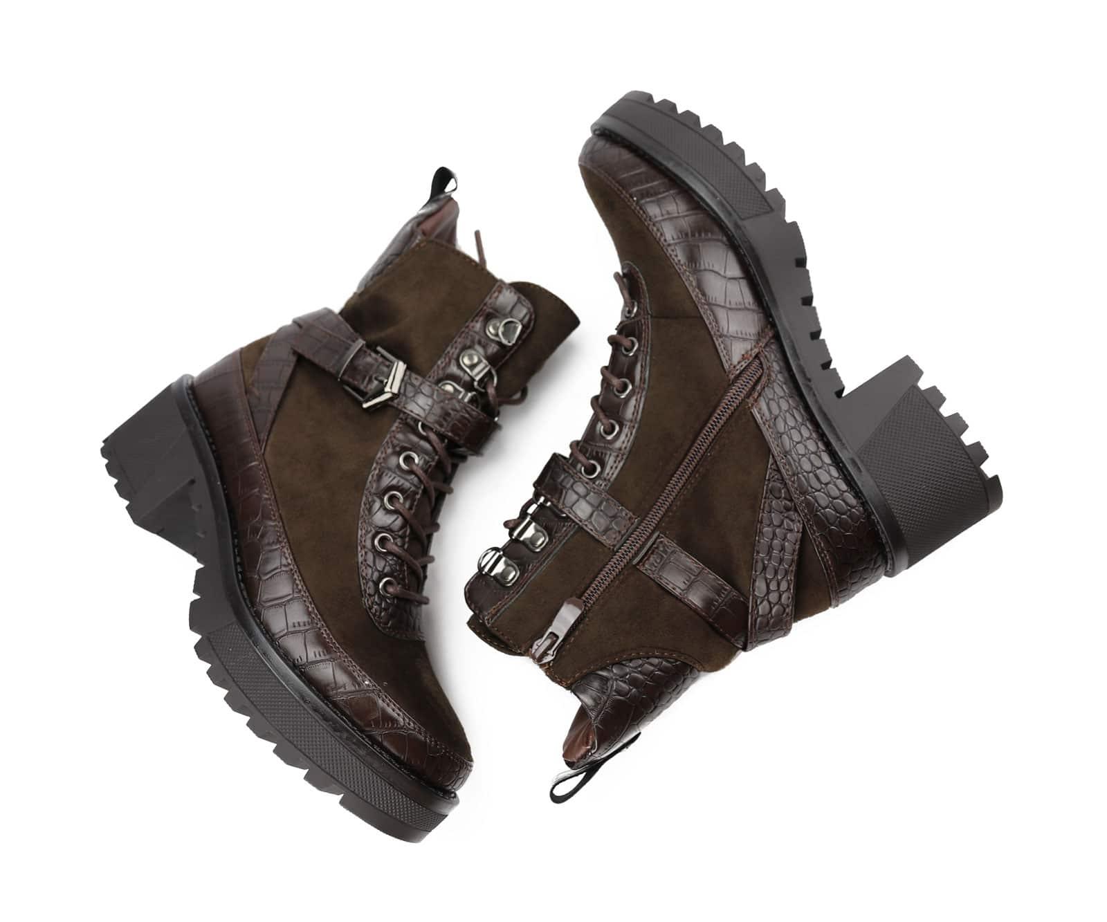 professionele verkoop beste prijs ga online LV-2 Desert Boots Met Croco Print, Bruin