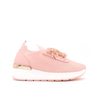 Coco Stretch Knit Sock Sneakers, Roze