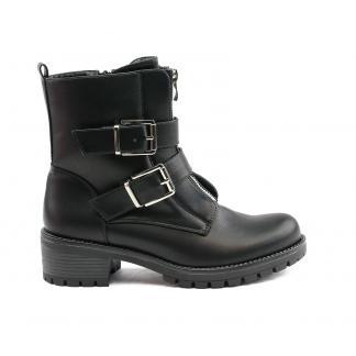 Double Buckle biker boots - zwart