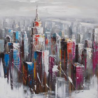 New York - Canvas schilderij - Olieverf