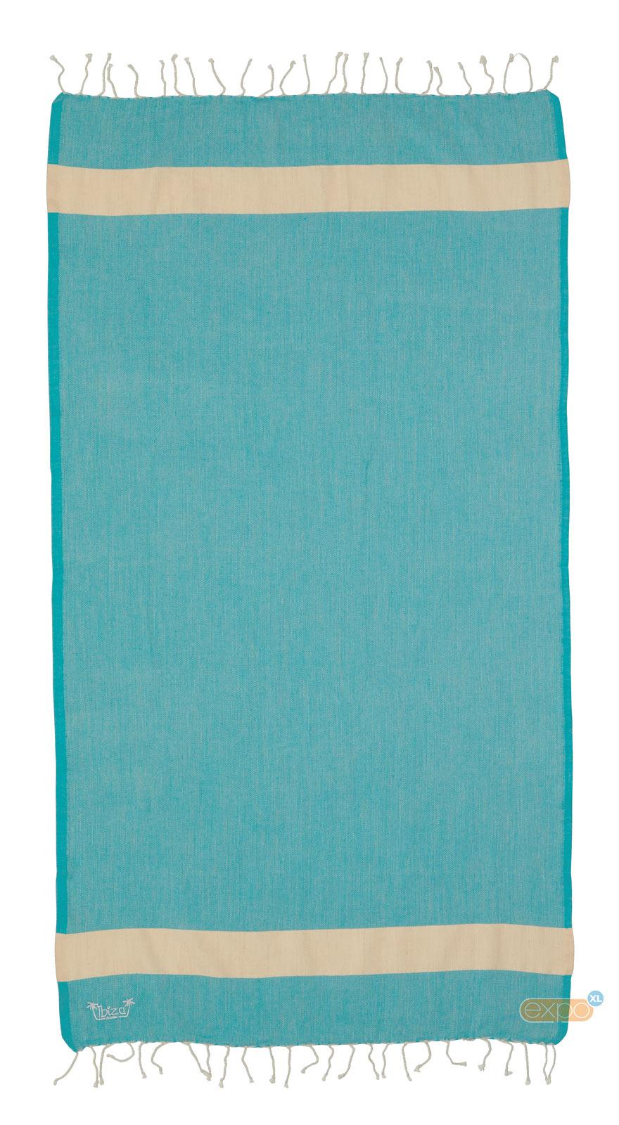 Expo XL Fouta Es Cubellis - XL hamamdoek - blauw