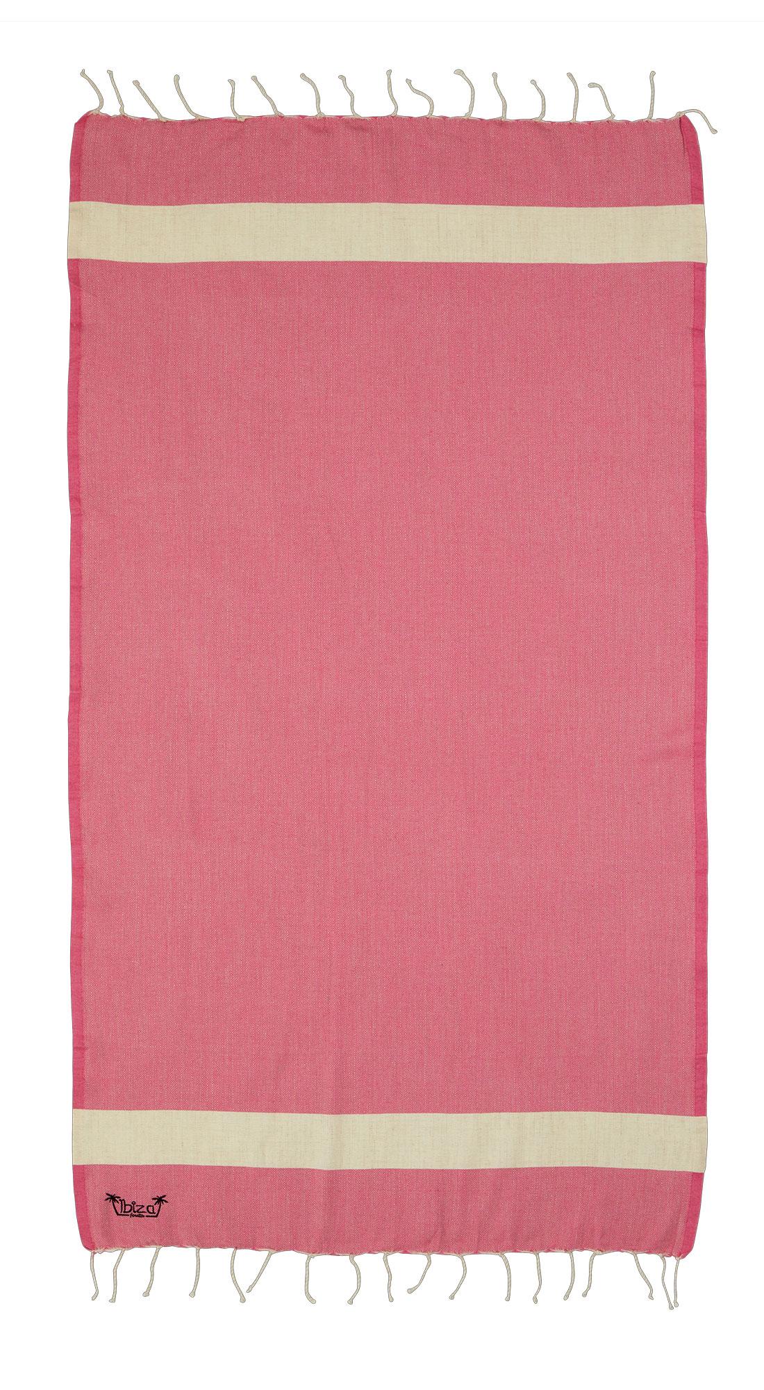 Expo XL Fouta Es Cubellis - XL hamamdoek - roze