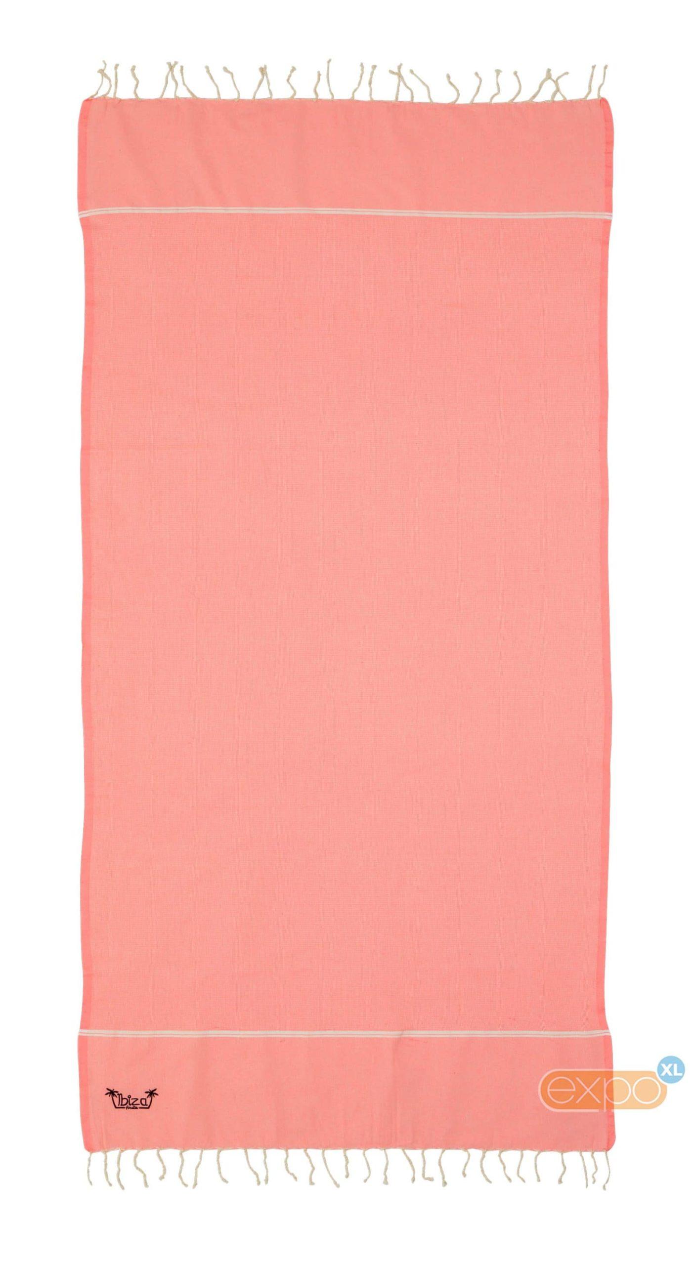 Expo XL Fouta Es Vedra - XL hamamdoek - neon roze