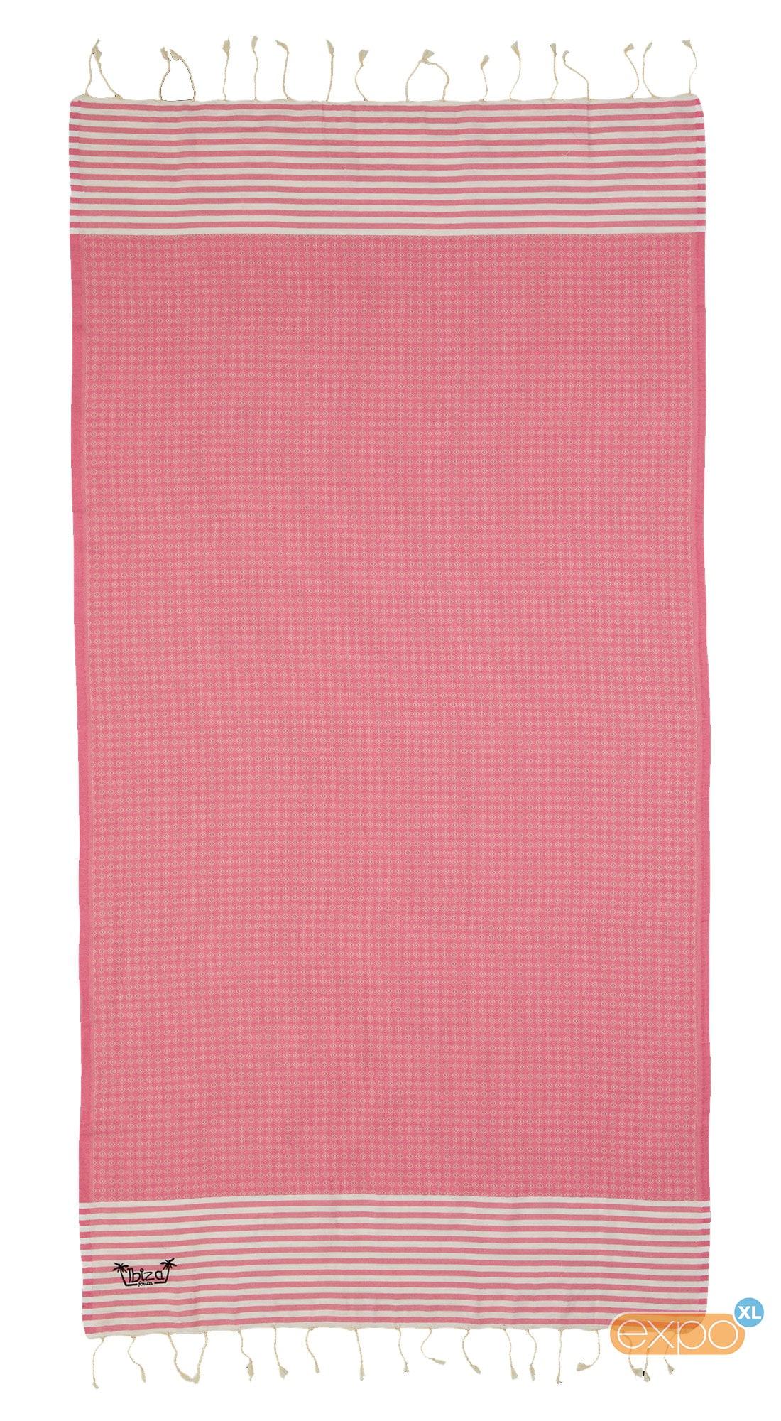 Expo XL Fouta Ses Bouques - XL hamamdoek - roze
