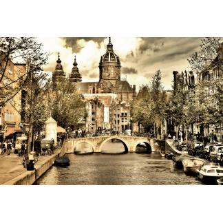Glas schilderij Amsterdam