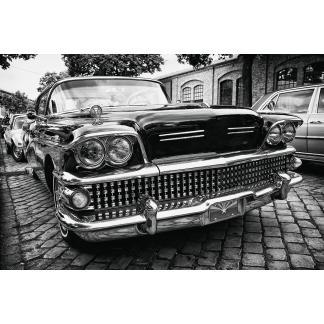 Glas schilderij 1958 Buick Oldtimer