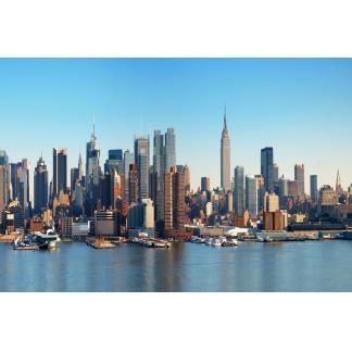 Glas schilderij New York City