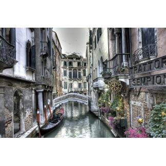 Glas schilderij Venetië