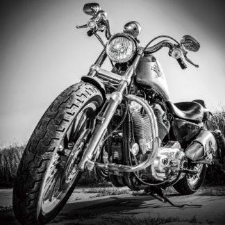 Glasschilderij Harley Davidson
