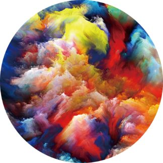 Glasschilderij Kleurrijk Abstract