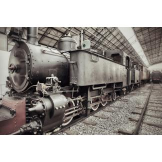 Glasschilderij Locomotief