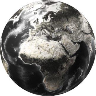 Glasschilderij wereldbol