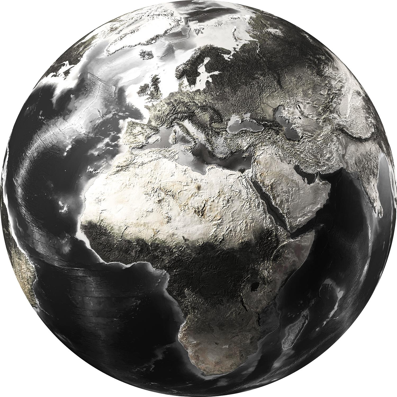 Glazen Rond Object.Glas Schilderij Wereldbol Rond 100cm