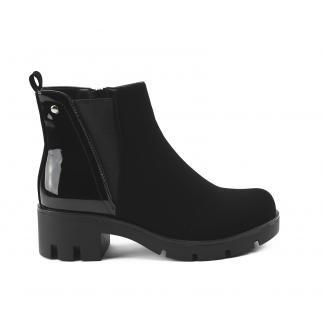 Half Lacquer Boots - zwart