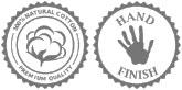 Handgemaakte hamamdoek, met 100% natuurlijke katoen
