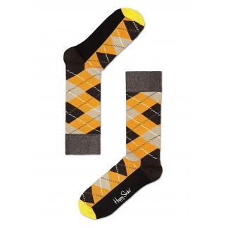 Happy Socks Argyle sokken - bruin