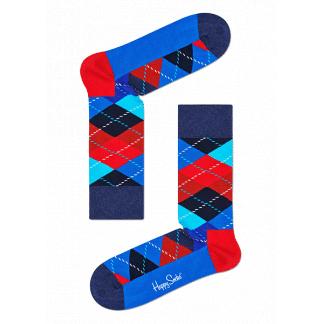 Happy Socks Argyle Sokken, Rood/Blauw