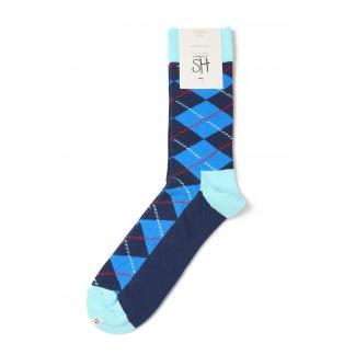 Happy Socks Argyle sokken - turquoise