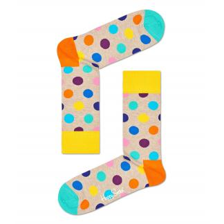 Happy Socks Big Dot Sokken, Beige