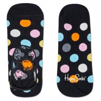 Happy Socks Big Dot Liner sokken - Footies - zwart