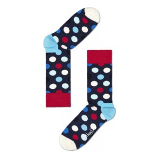 Happy Socks Big Dot Sokken, Donkerblauw/Rood