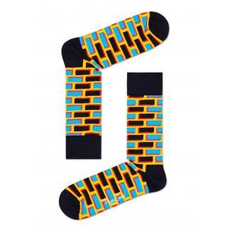 Happy Socks Bricks Sokken, Geel