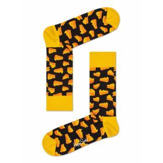 Happy Socks Cheese Sokken, Zwart/Geel