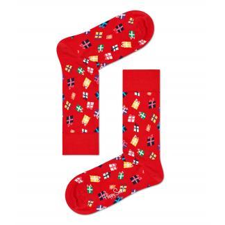 Happy Socks Christmas Gift Sokken, Rood