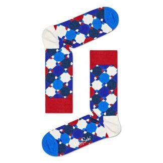 Happy Socks Diamond Dot sokken, Rood/Blauw