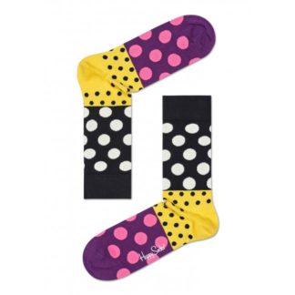 Happy Socks Dots Block Anniversary Sokken, Geel/Zwart