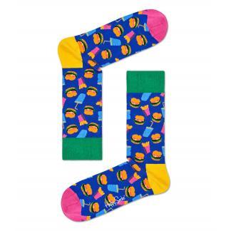 Happy Socks Hamburger Sokken, Blauw