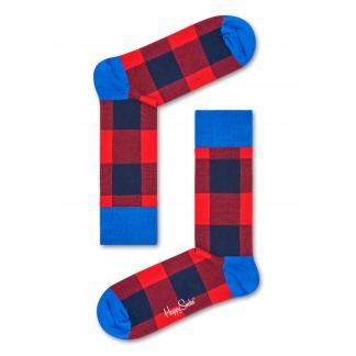 Happy Socks Lumberjack Sokken, Rood/Blauw