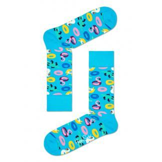 Happy Socks Pool Party Sokken, Lichtblauw