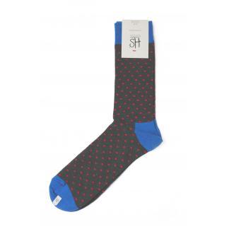 Happy Socks Small Dot sokken - grijs/blauw