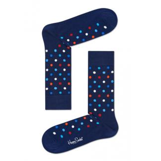 Happy Socks Small Dot Sokken, Donkerblauw
