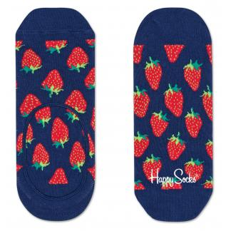 Happy Socks Strawberry Liner sokken - Footies - blauw
